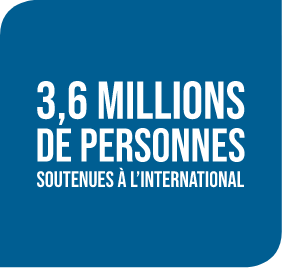 3,6 millions de personnes soutenus à l'international